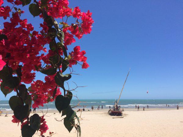La plage de Pontal et ses bougaivilliers