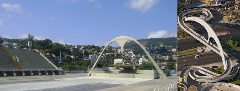 Sambodrone et passerelle Rocinha Rio