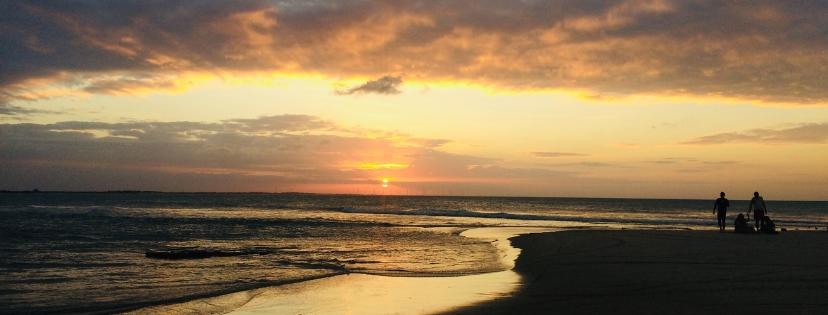 Sunset sur la plage